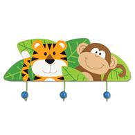 Preschooler wall plaques | Zoo wall plaque with hooks