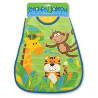 Wipeable bibs for toddlers | Monkey wipeable bib for infants