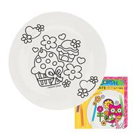 COLOR A PLATE CUPCAKE (F15)