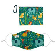 ADJUSTABLE FILTER POCKET MASK W/ZIPPER POUCH ZOO (F20)