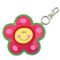 Penny pals for preschoolers | Flower vinyl coin purse for children
