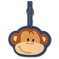 Luggage tag for kids | Monkey luggage tag for preschoolers