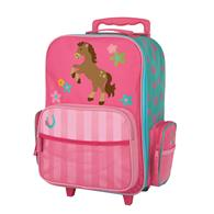 CLASSIC ROLLING LUGGAGE GIRL HORSE (F13)