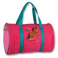 QUILTED DUFFLE  GIRL HORSE (S15)