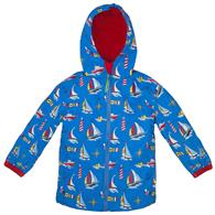 ALL OVER PRINT RAINCOAT  NAUTICAL 6/6X (S17)